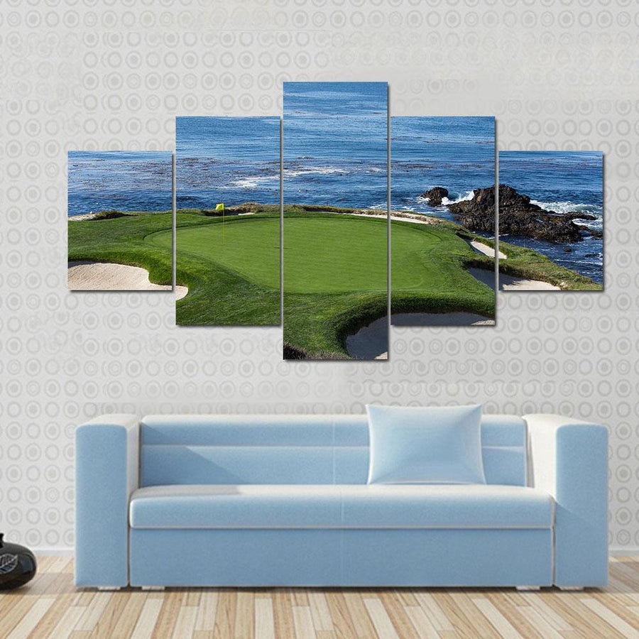 Pebble Beach Golf Links Monterey California USA Canvas Panel Painting Tiaracle