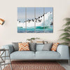 Penguins Colony On Iceberg Antarctica Multi Panel Canvas Wall Art Tiaracle