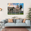 People In The Gardens Of The Capitol  Multi Panel Canvas Wall Art 4 Horizontal / Small / Gallery Wrap Tiaracle