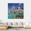 Petronas Twin Towers At Kuala Lumpur Multi Panel Canvas Wall Art 4 Square / Small / Gallery Wrap Tiaracle