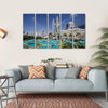 Petronas Twin Towers At Kuala Lumpur Multi Panel Canvas Wall Art 5 Horizontal / Small / Gallery Wrap Tiaracle