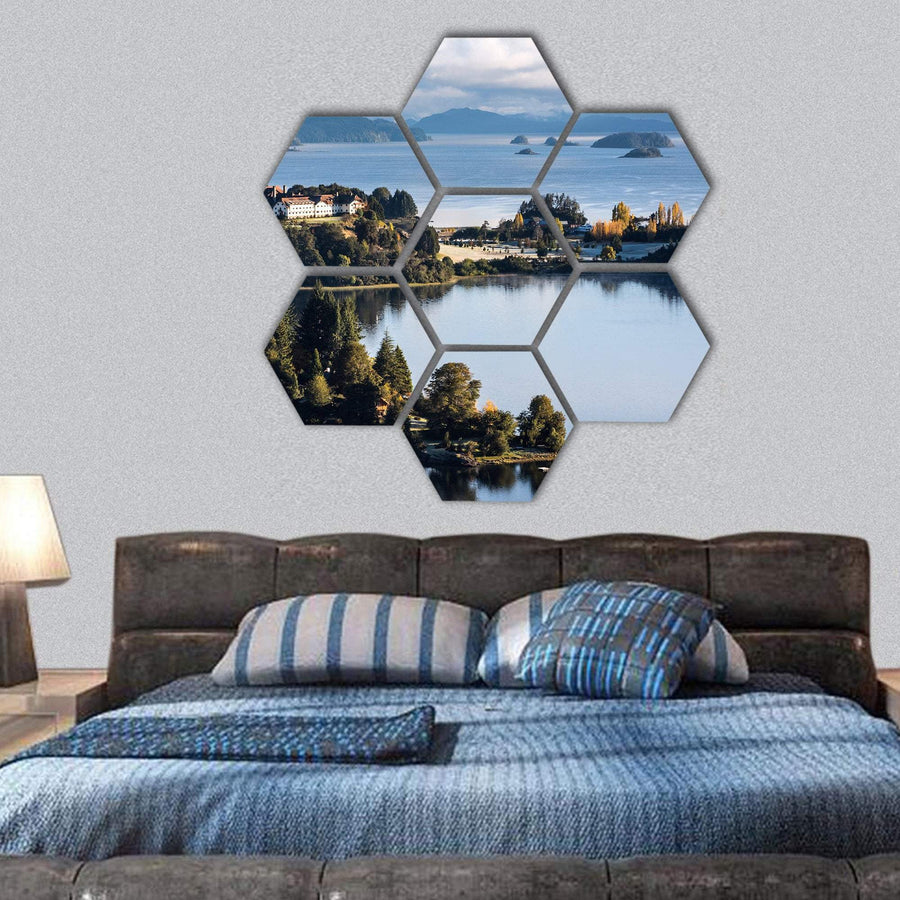 Nahuel Huapi Lake Hexagonal Canvas Wall Art 1 Hexa / Small / Gallery Wrap Tiaracle