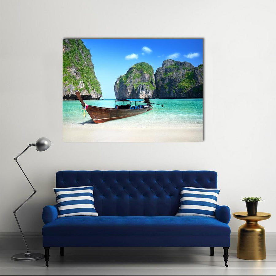 Phi Phi Island Maya bay Multi Panel Canvas Wall Art 4 Pieces / Medium / Canvas Tiaracle