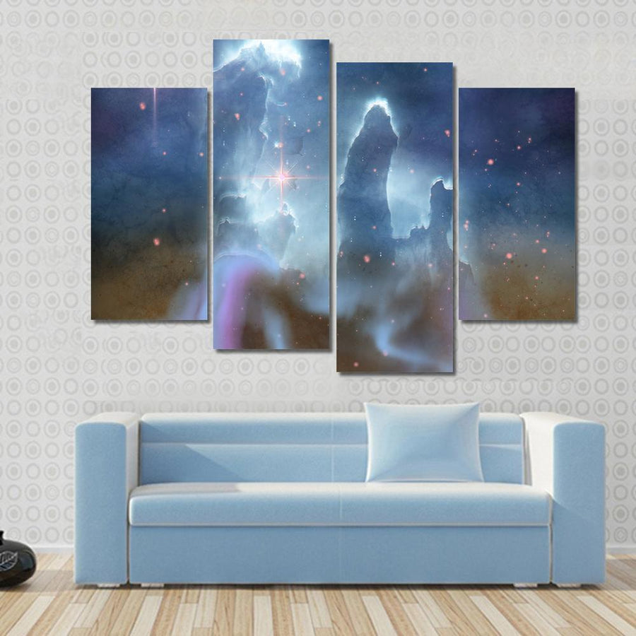 Pillars Of Creation - Eagle Nebula Canvas Panel Painting Tiaracle
