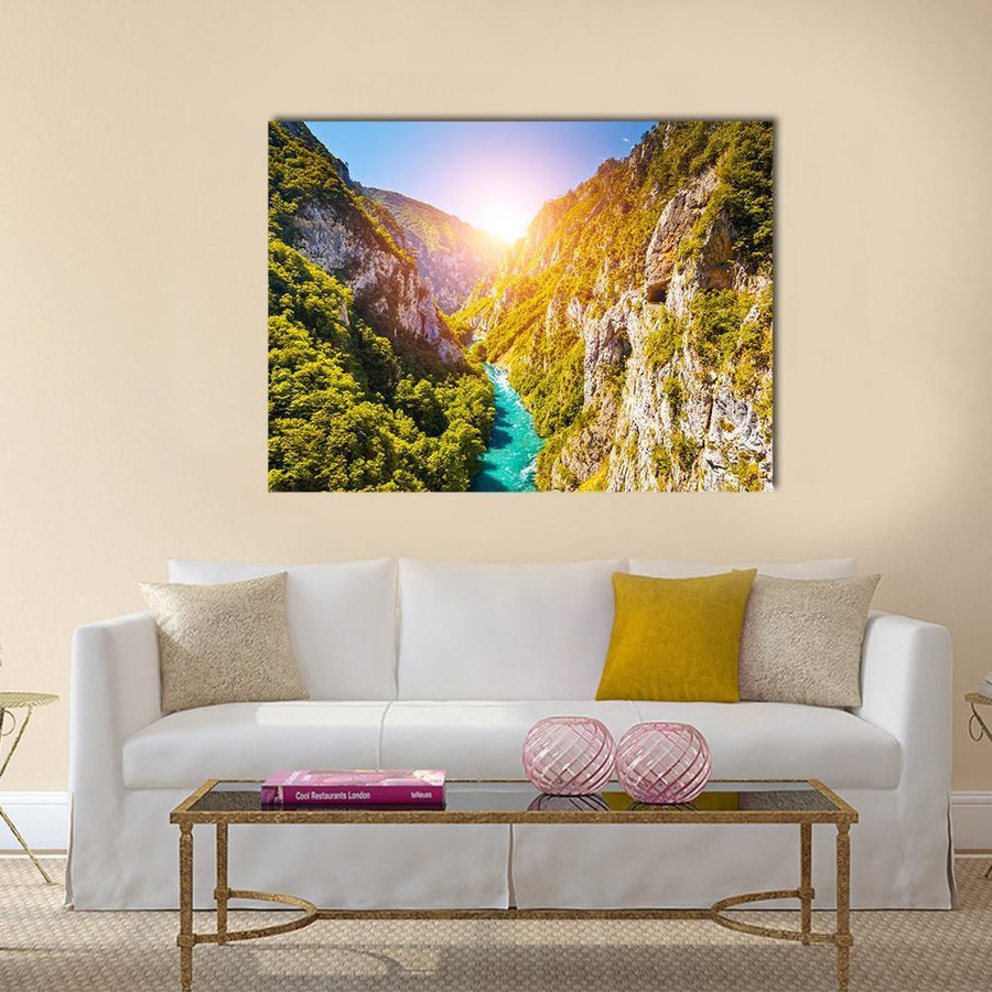 Piva Canyon In Montenegro Canvas Panel Painting Tiaracle