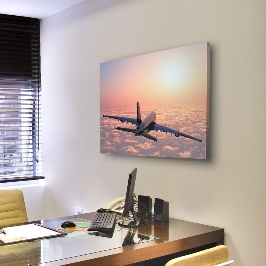 Plane Flying Above The Clouds Multi Panel Canvas Wall Art 5 Pieces(B) / Medium / Canvas Tiaracle