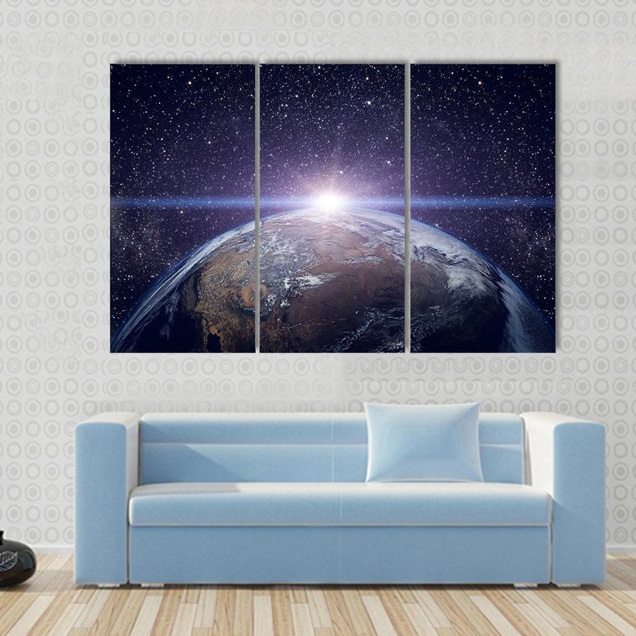 Planet Earth Beautiful Sunset Canvas Panel Painting Tiaracle