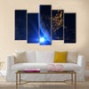 Planet Earth With A Spectacular Sunset Multi Panel Canvas Wall Art 5 Pop / Small / Gallery Wrap Tiaracle