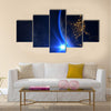 Planet Earth With A Spectacular Sunset Multi Panel Canvas Wall Art 5 Star / Small / Gallery Wrap Tiaracle