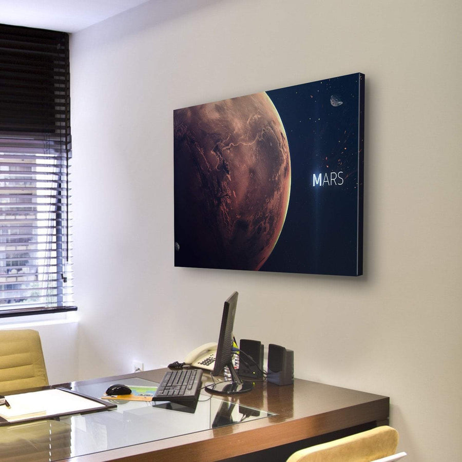 Planet Mars From Space Canvas Panel Painting Tiaracle