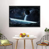 Planets View From Cave Canvas Wall Art