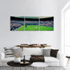 Players In Wimbledon Centre Tennis Court Panoramic Canvas Wall Art-3 Piece-Small-Tiaracle
