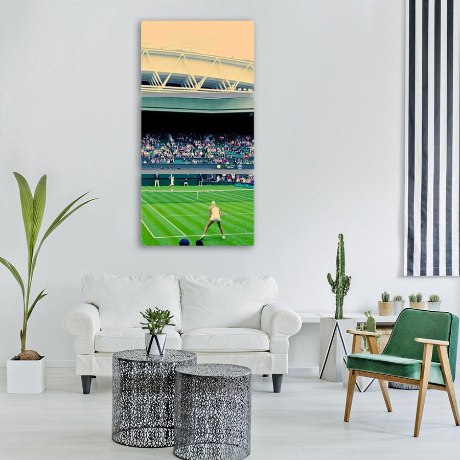 Players In Wimbledon Centre Tennis Court Vertical Canvas Wall Art-1 Vertical-Small-Gallery Wrap-Tiaracle