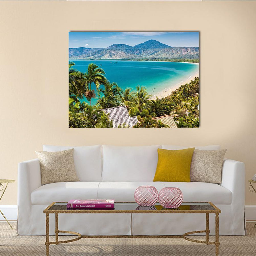 Port Douglas Beach Canvas Wall Art-4 Horizontal-Small-Gallery Wrap-Tiaracle