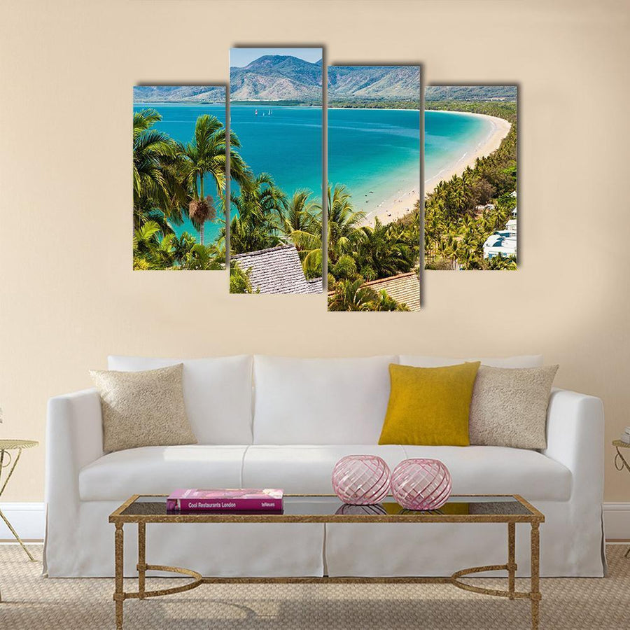 Port Douglas Beach Multi Panel Canvas Wall Art 5 Pieces(A) / Medium / Canvas Tiaracle