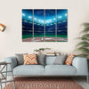 Professional Baseball Grand Arena In The Night Multi Panel Canvas Wall Art-4 Horizontal-Small-Gallery Wrap-Tiaracle
