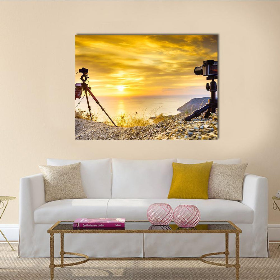 Professional Cameras Canvas Wall Art-5 Horizontal-Small-Gallery Wrap-Tiaracle