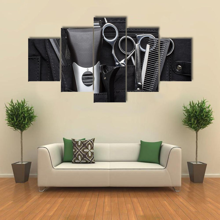 Professional Tools Of Hairdresser Multi Panel Canvas Wall Art 1 Piece / Medium / Canvas Tiaracle
