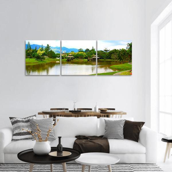 Public Lake Garden At Tenom Panoramic Canvas Wall Art 1 Piece / Small Tiaracle
