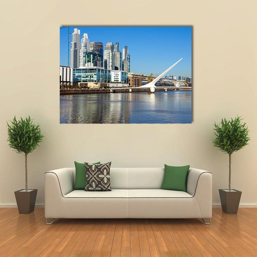 Puerto Madero In Buenos Aires Canvas Panel Painting Tiaracle