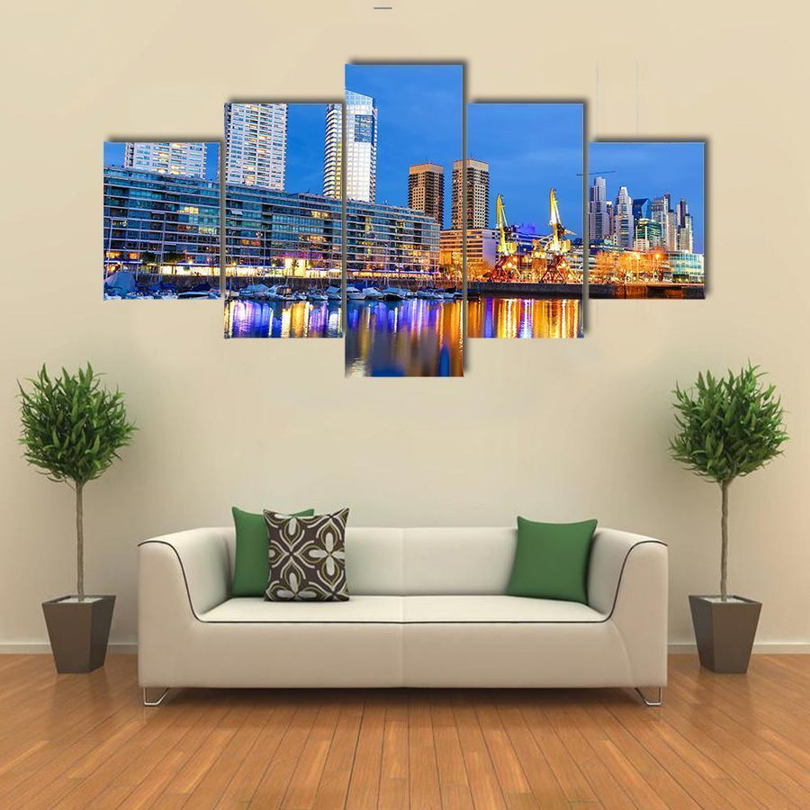 Famous Neighborhood Of Puerto Madero Canvas Panel Painting Tiaracle