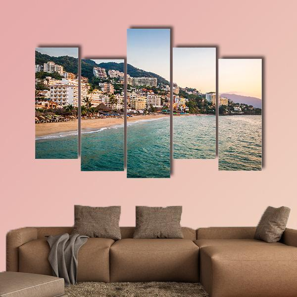 Puerto Vallarta In Jalisco Mexico Multi Panel Canvas Wall Art 4 Pieces / Medium / Canvas Tiaracle