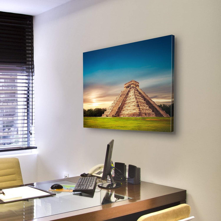 Pyramid In Chichen Itza In Mexico Multi Panel Canvas Wall Art 4 Pieces / Medium / Canvas Tiaracle