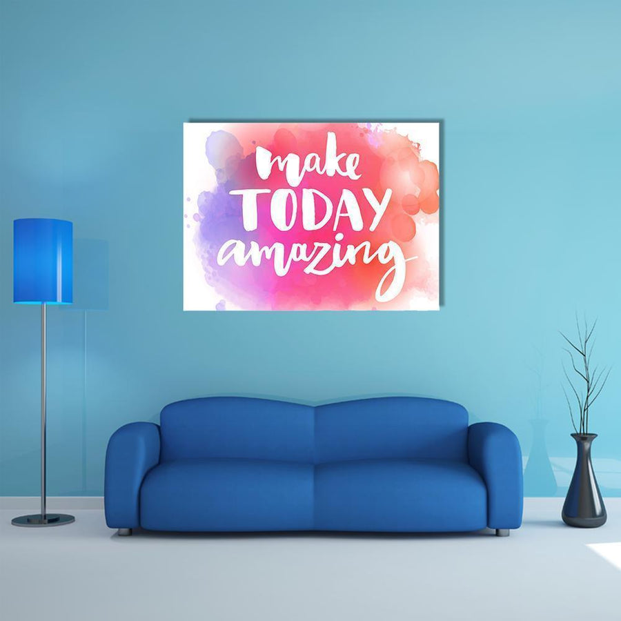 "Quote ""Make Today Amazing"" Multi Panel Canvas Wall Art 4 Square / Small / Gallery Wrap Tiaracle"