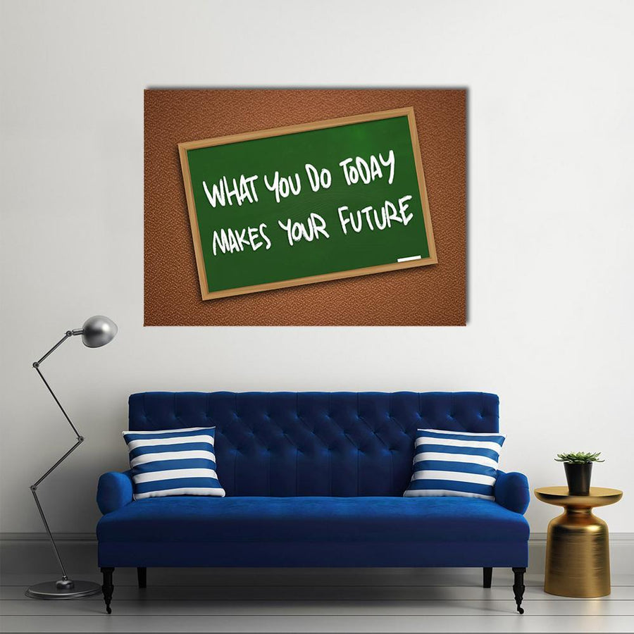 "Quote "" What You Do Today Makes Your Future"" Multi Panel Canvas Wall Art 4 Square / Small / Gallery Wrap Tiaracle"