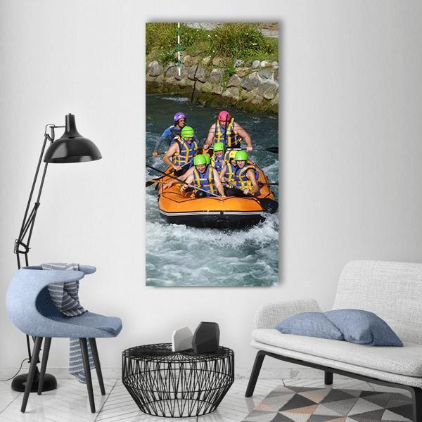 Rafting Sports Boat Vertical Canvas Wall Art 3 Vertical / Small / Gallery Wrap Tiaracle