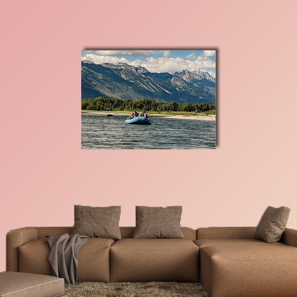 Rafting The Snake River In Wyoming Multi Panel Canvas Wall Art 4 Pieces / Medium / Canvas Tiaracle