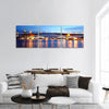 Rama 9 Bridge In Bangkok Panoramic Canvas Wall Art 3 Piece / Small Tiaracle
