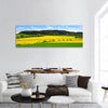 Rapeseed And Green Wheat Field Panoramic Canvas Wall Art 1 Piece / Small Tiaracle