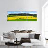 Rapeseed And Green Wheat Field Panoramic Canvas Wall Art 3 Piece / Small Tiaracle