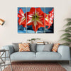 Red Amarillis Flower Canvas Wall Art-4 Horizontal-Small-Gallery Wrap-Tiaracle