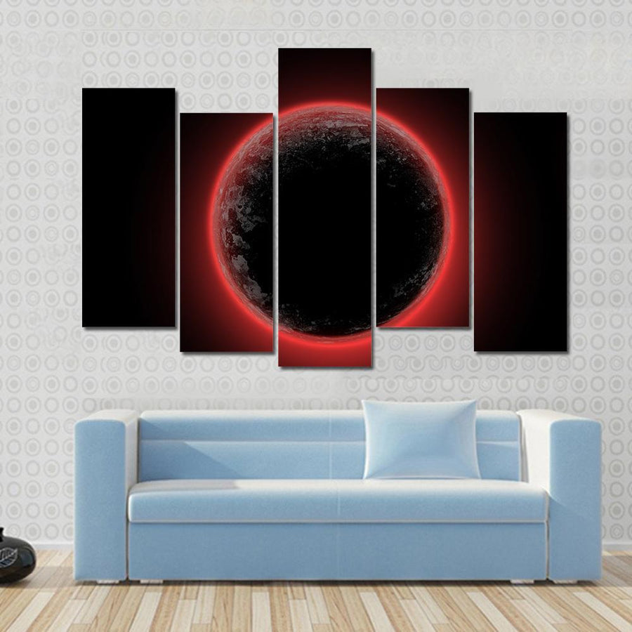 Red Planet From Deep Space Canvas Panel Painting Tiaracle
