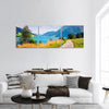 Resia Lake In Italian Alps Panoramic Canvas Wall Art Tiaracle