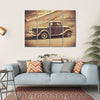 Retro Style Vintage Truck Canvas Wall Art-4 Horizontal-Small-Gallery Wrap-Tiaracle