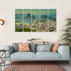 Rio De Janeiro And Sugarloaf Mountain Multi Panel Canvas Wall Art-5 Horizontal-Small-Gallery Wrap-Tiaracle