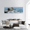 Rock Formations On Lake Baikal Panoramic Canvas Wall Art 3 Piece / Small Tiaracle