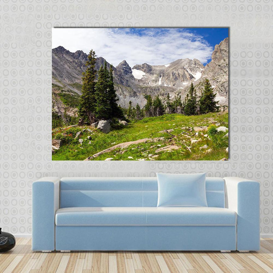 Colorado Rocky Mountains Landscape In Summer Canvas Panel Painting Tiaracle