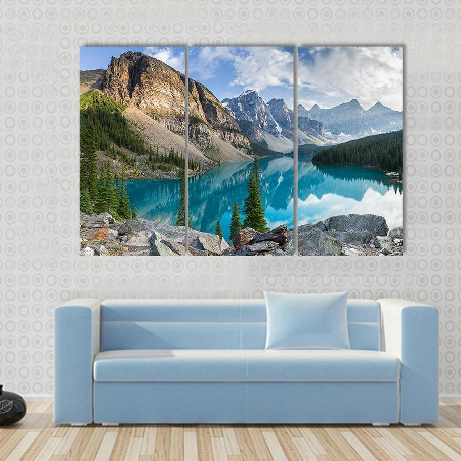 Rocky Mountains With Lake In Canada Panel Painting Tiaracle