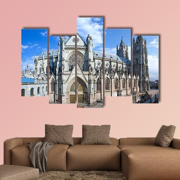 Roman Catholic Church Multi Panel Canvas Wall Art 3 Pieces / Small / Gallery Wrap Tiaracle