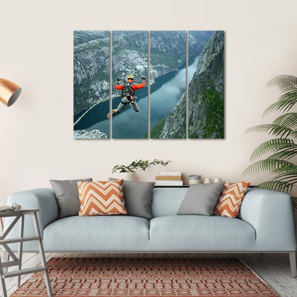 Rope Jumping Multi Panel Canvas Wall Art-1 Piece-Small-Gallery Wrap-Tiaracle