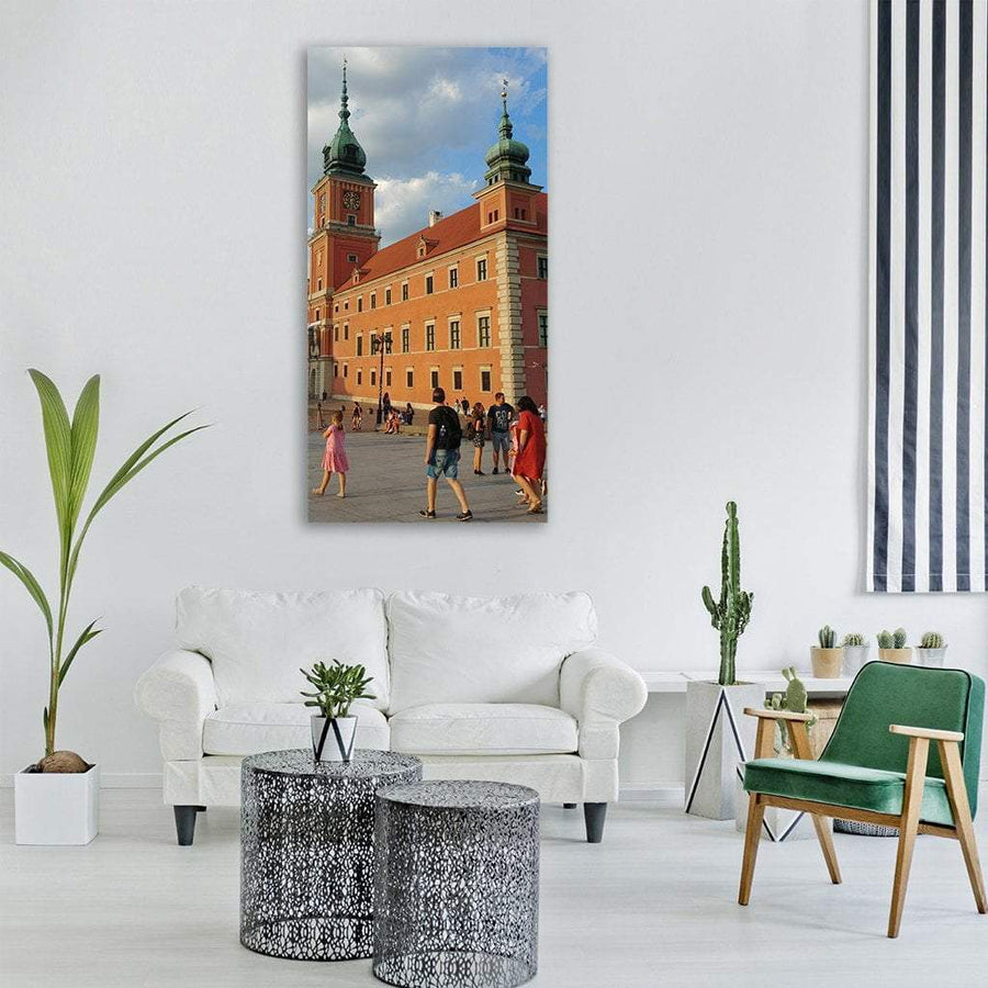 Royal Castle In Warsaw Poland Vertical Canvas Wall Art 3 Vertical / Small / Gallery Wrap Tiaracle
