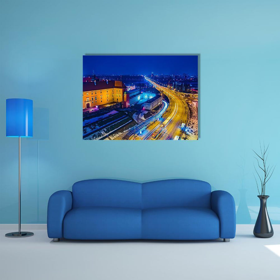 Royal Castle & Old Town Canvas Wall Art-4 Horizontal-Small-Gallery Wrap-Tiaracle