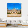 Royal Palace Of Aranjuez Canvas Wall Art-4 Square-Small-Gallery Wrap-Tiaracle
