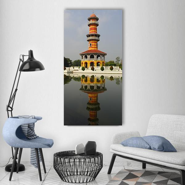 Royal Summer Palace Bang Pa In Vertical Canvas Wall Art 3 Vertical / Small / Gallery Wrap Tiaracle