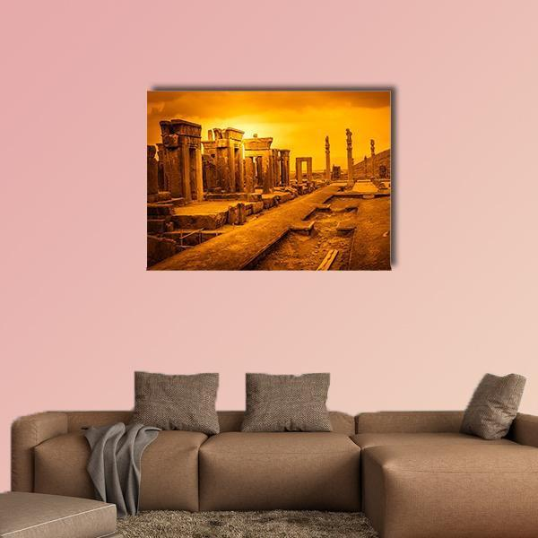 Ruins Of The Ancient City Persepolis In Iran Multi Panel Canvas Wall Art 5 Pieces(B) / Medium / Canvas Tiaracle100587571_xl