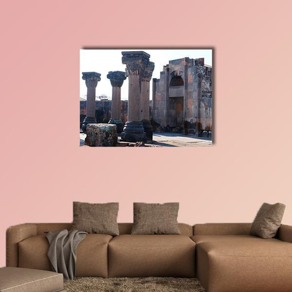 Ruins Of The Zvartnos Temple In Armenia Multi Panel Canvas Wall Art 4 Pieces / Medium / Canvas Tiaracle100587571_xl